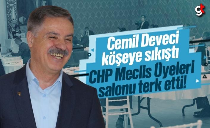 Cemil Deveci köşeye sıkıştı, CHP'liler salonu terk etti