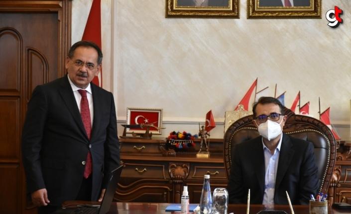 Enerji ve Tabii Kaynaklar Bakanı Fatih Dönmez, Samsun Büyükşehir Belediyesini ziyaret etti