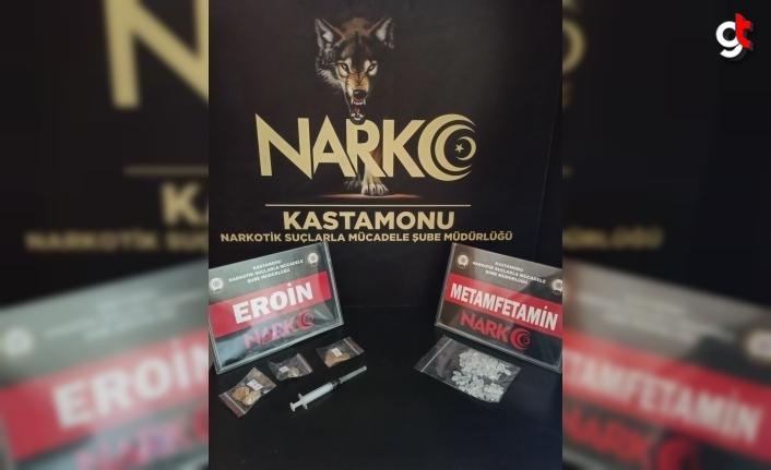 Kastamonu'da düzenlenen uyuşturucu operasyonlarında 2 zanlı yakalandı