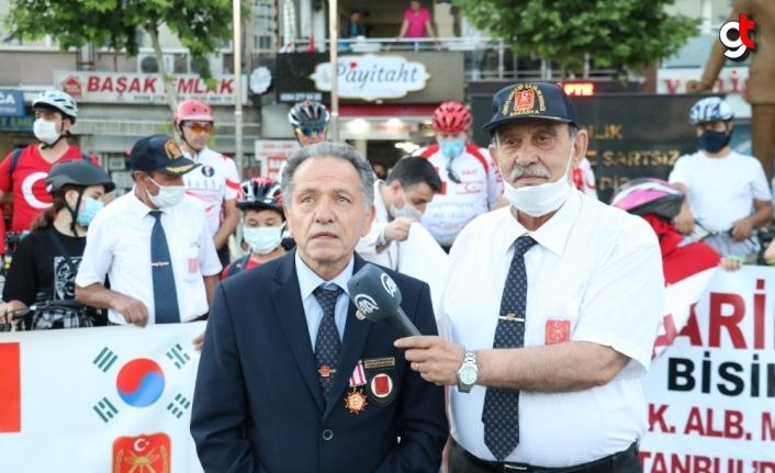 Kıbrıs Gazisi merhum Şükrü Tandoğan'ın anısına düzenlenen bisiklet turu ekibi Sakarya'ya ulaştı