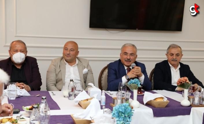 Ordu Büyükşehir Belediye Başkanı Güler, oda başkanları ile bir araya geldi