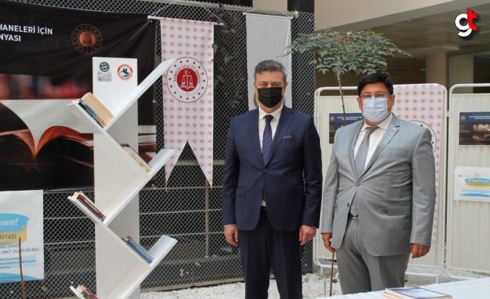 Samsun'da ceza infaz kurumları kütüphanelerine destek kampanyası