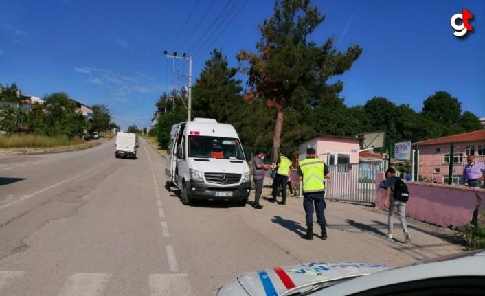 Samsun'da trafik ve Kovid-19 tedbirleri kapsamında denetim yapıldı