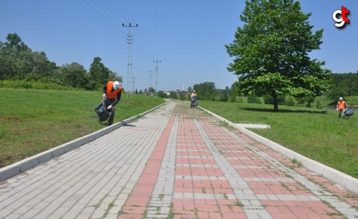 Terme Belediyesi yürüyüş ve gezi yolu yenileme çalışmalarını başlattı