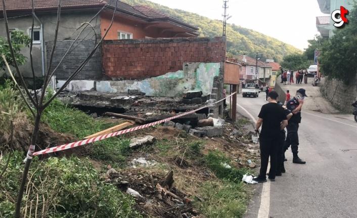 Zonguldak'ta yıkılan duvarın altında kalan kişi hayatını kaybetti