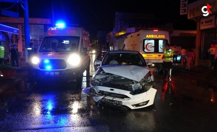 Düzce'de iki otomobil çarpıştı : 3 yaralı
