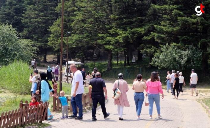 Gölcük Tabiat Parkı bayramda tatilcilerin akınına uğradı