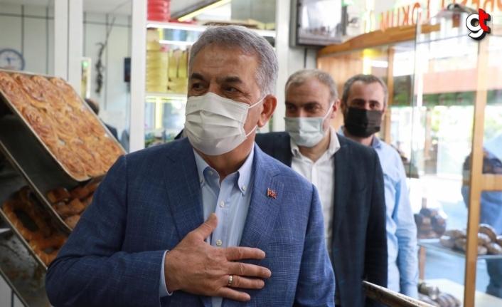 AK Parti Genel Başkan Yardımcısı Hayati Yazıcı, Rize'de esnafı ziyaret etti