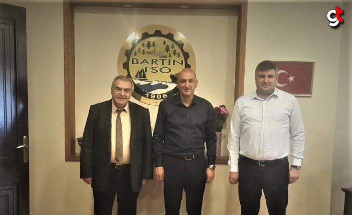BAKKA Genel Sekreteri Altunsu'dan Bartın TSO Başkanı Balık'a ziyaret