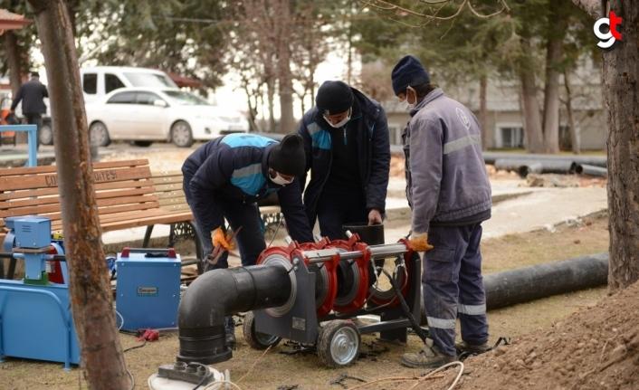 Kuraklığın etkisindeki Çorum'da 2021'de 24 bin metre içme suyu hattı döşendi
