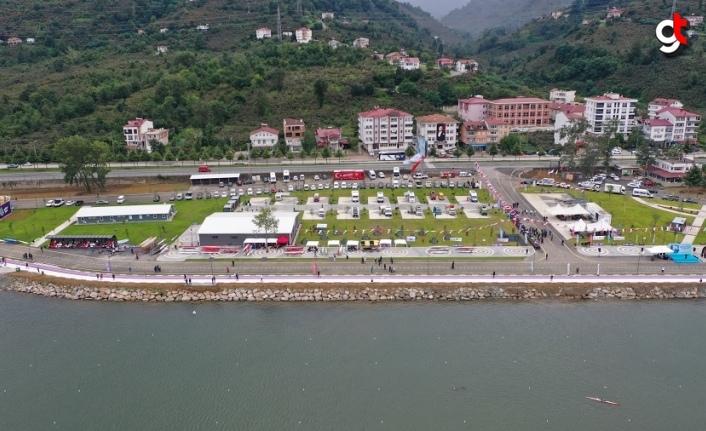 Ordu Durgun Su Sporları Merkezi ve Kamp Alanı'nda düzenlenen yarışlar tamamlandı