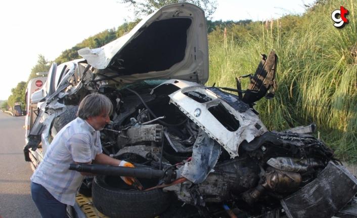 Ordu'da tünelde meydana gelen kazada 2 kişi yaralandı