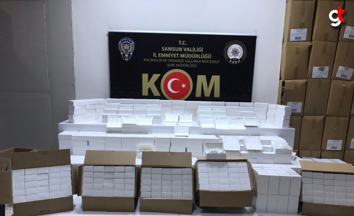 Samsun'da 160 bin kaçak makaron ele geçirildi