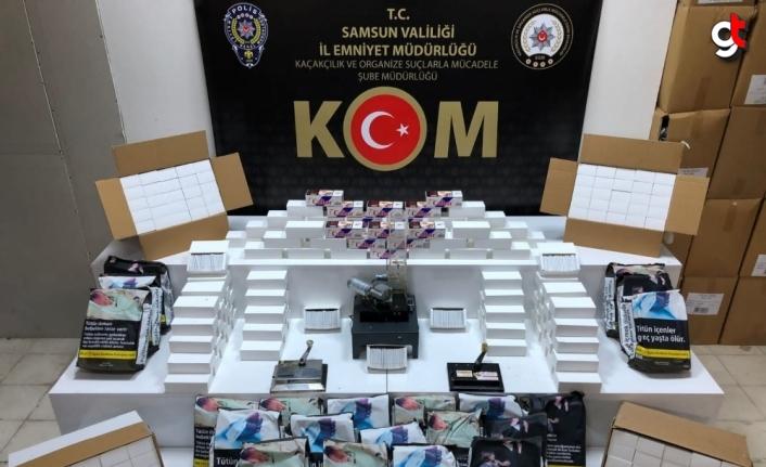 Samsun'da tütün kaçakçılığı operasyonunda bir şüpheli yakalandı