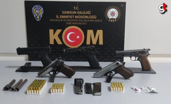 Samsun'da silah kaçakçılığı operasyonunda 2 şüpheli yakalandı