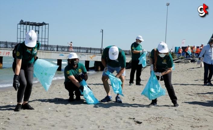 Samsun'da Uluslararası Kıyı Temizleme Günü dolayısıyla sahil temizliği yapıldı
