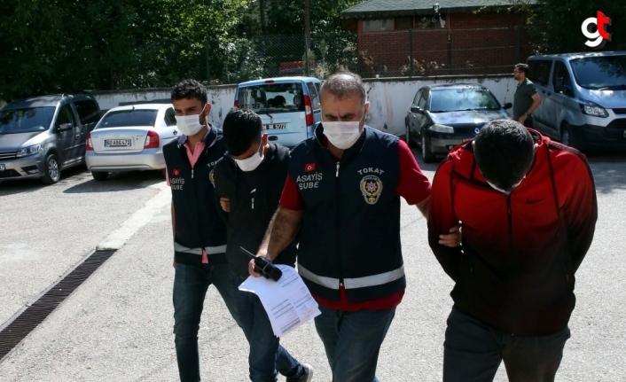 Tokat'ta 500 saatlik görüntü kayıtlarını izleyen polisler, hırsızlık zanlısı 3 kişiyi yakaladı