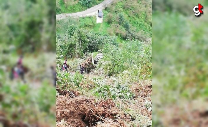 Trabzon'da devrilen beton mikserinde sıkışan sürücü hayatını kaybetti