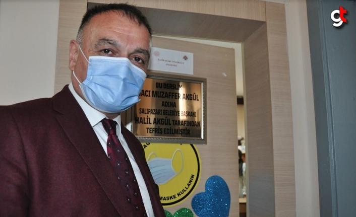 Salıpazarı Belediye Başkanı Halil Akgül, merhum babası için anasınıfı yaptırdı
