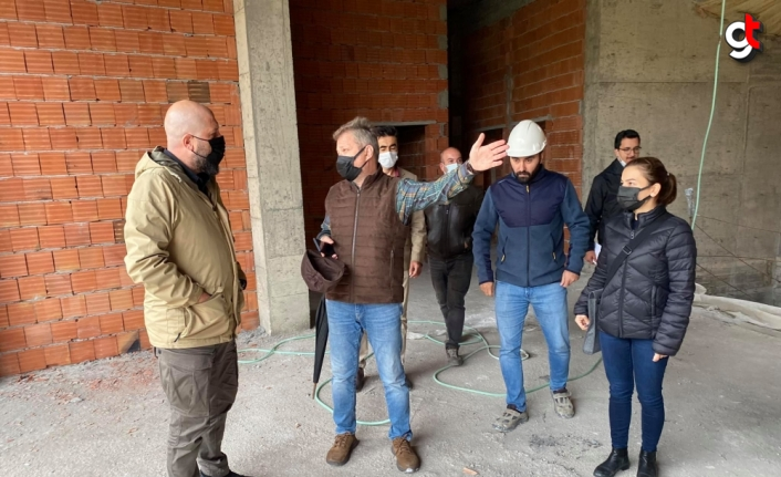 Bartın Belediyesi Kültür ve Sanat Merkezi inşaatı sürüyor