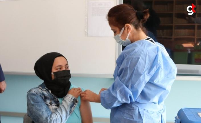 Havza'da okullarda aşılama çalışması