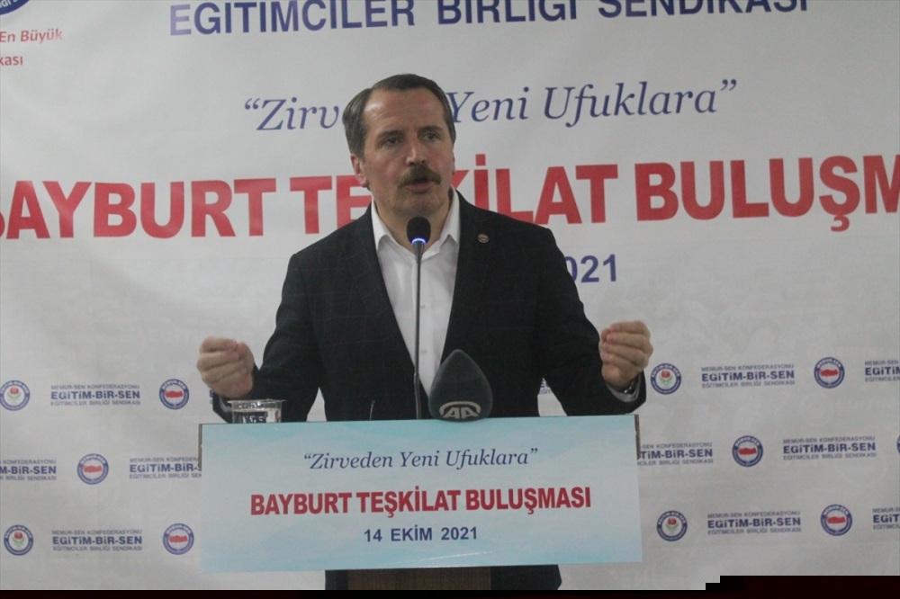 Memur-Sen Genel Başkanı Yalçın, Bayburt'ta konuştu: