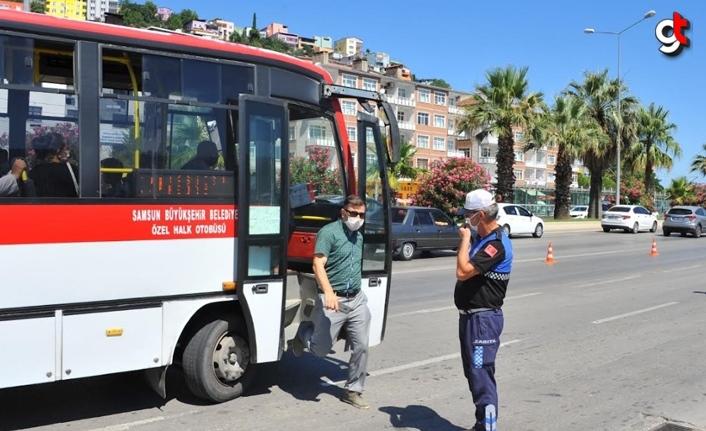 Samsun'da 2 bin 775 toplu taşıma aracına ceza kesildi