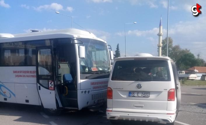 Samsun'da üç aracın karıştığı kazada 5 kişi yaralandı