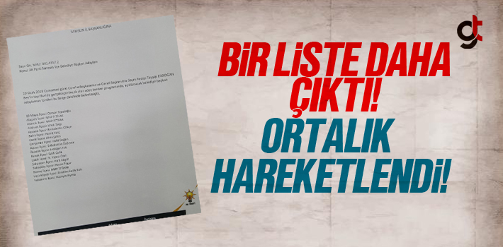 AK Parti Samsun Adaylarının Olduğu Bir Liste Daha Çıktı