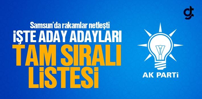 AK Parti Samsun Belediye Başkan Aday Adayları Açıklandı