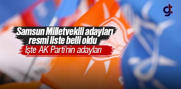 AK Parti Samsun Milletvekili Adayları Resmi Liste Açıklandı 2018