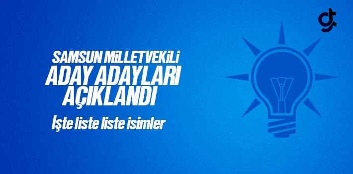 AK Parti Samsun Milletvekili Aday Adayları Listesi Açıklandı