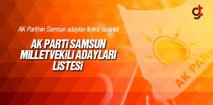 AK Parti Samsun Milletvekili Aday Listesi Sızdırıldı