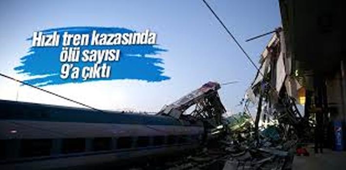 Ankara'da ki Hızlı Tren Kazasında Ölü Sayısı 9'a Yükselidi