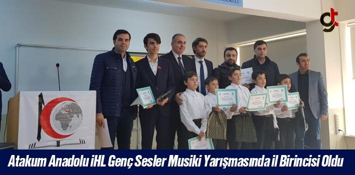 Atakum Anadolu İHL Genç Sesler Musiki Yarışmasında İl Birincisi Oldu