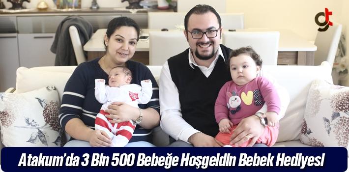 Atakum'da 3 Bin 500 Bebeğe Hoşgeldin  Bebek Hediyesi