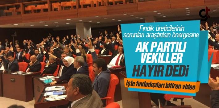 Fındık Üreticilerinin Umudunu Yıkan AK Partili Vekiller