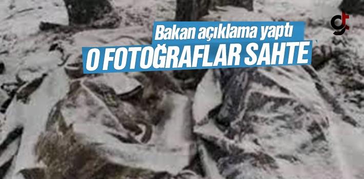 Bakan Soylu; 'Donan Askerlerin Fotoğrafı Gerçek Değil'