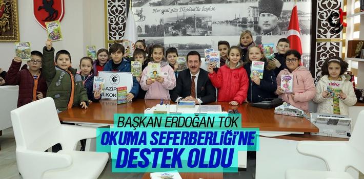 Başkan Erdoğan Tok, Okuma Seferberliği'ne Destek oldu