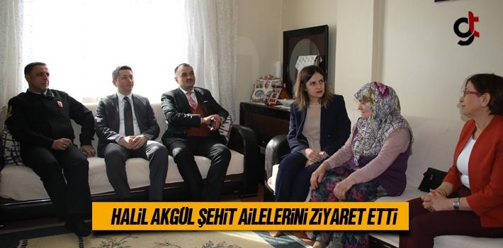 Başkan Halil Akgül Şehit Ailelerini Ziyaret Etti