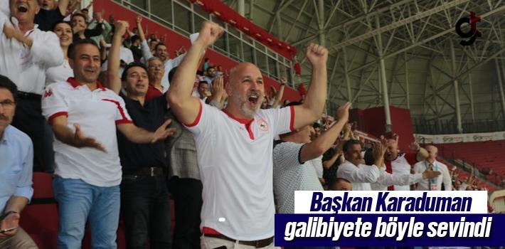 Başkan Karaduman'ın Galibiyet Sevinci