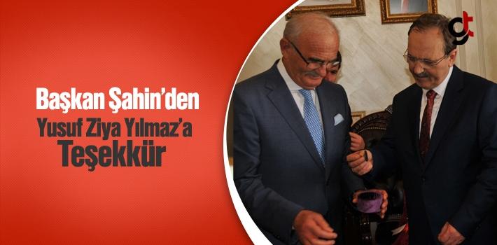 Başkan Şahin'den Yusuf Ziya Yılmaz'a SAMULAŞ İçin Teşekkür