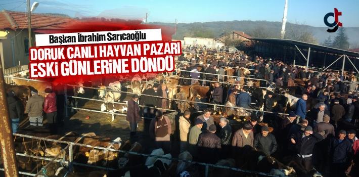 Başkan Sarıcaoğlu, Doruk Canlı Hayvan Pazarı Eski Günlerine Geri Döndü
