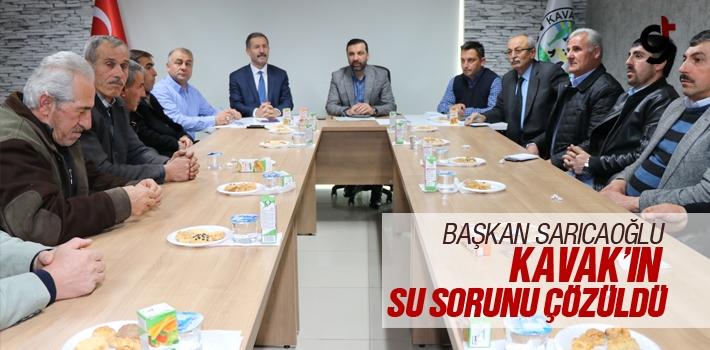 Başkan Sarıcaoğlu, Kavak'ın Su Sorunu Çözüldü!