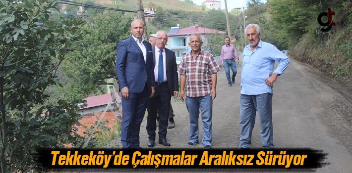 Başkan Togar, Tekkeköy'de Çalışmalar Aralıksız Sürüyor