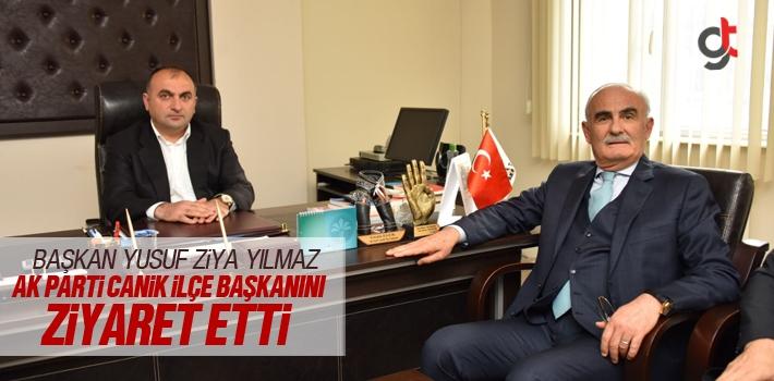 Başkan Yılmaz AK Parti Canik İlçe Başkanını Ziyaret Etti