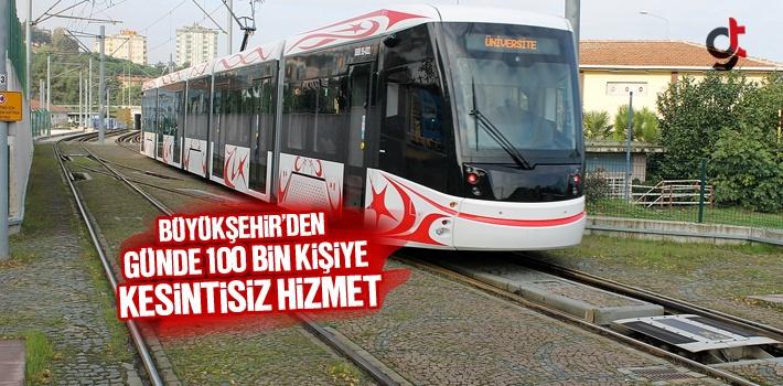 Büyükşehir'den Günde 100 Bin Kişiye Kesintisiz Hizmet