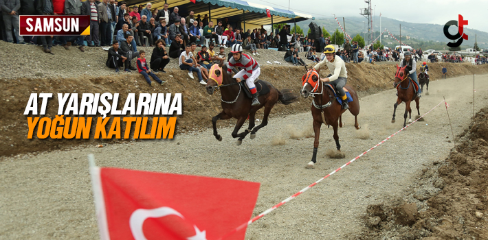 Canik'te Düzenlenen Rahvan At Yarışlarına Yoğun Katılım