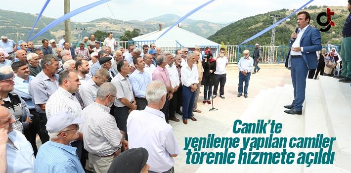 Canik'te Yenileme Yapılan Camiler Törenle Hizmete Açıldı