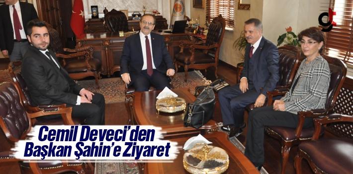 CHP Atakum Belediye Başkan Adayı Cemil Deveci'den Başkan Şahin'e Ziyaret